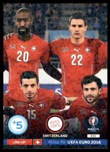 Panini Road to EURO 2016 Adrenalyn XL Line-Up 2 Switzerland No. 233
