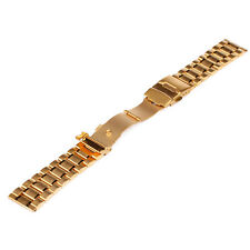 Stainless Steel Men's Watch Band Strap Double Lock Flip Bracelet 18 20 22 24mm