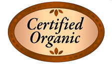 """1.25"""" X 2"""" Certified Organic Labels 500 Per Roll Great Stickers"""