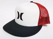 HURLEY COLOR BLOCK TRUCKER Snapback Hat OSFA ($30) NEW Mesh Cap NC STATE PACK