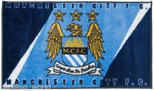 RUG MAN CITY stampato BEDROOM FLOOR MAT Manchester CREST BLU FOOTBALL CLUB SQUADRA