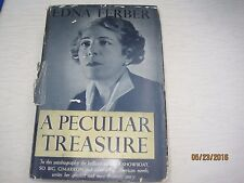 A Peculiar Treasure An Autobiography by Edna Ferber author of Showboat 1939 j128