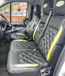 SAME DAY DISPATCH!!  FORD TRANSIT CUSTOM 2014-21  VAN SEAT COVER LIME GREEN