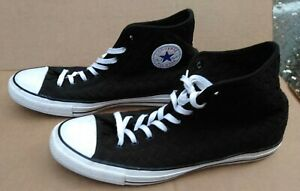 Converse Chuck Taylor High Top Basket Weave Fabric Sneakers Mens 13 Miss 15 VGC