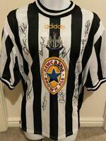 Multi Signed Newcastle United 97-99 Autograph Home Shirt Shearer Given Ferguson