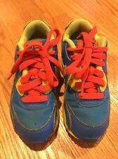 NIKE AIR MAX Fluorescent ORANGE YELLOW Sneakers Toddler Boys Girl Shoe Sz 10.5 #