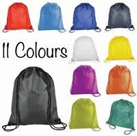 New Cotton Sport Swimming Laundry Drawstring PE Bag GYM School PE Kids Rucksack