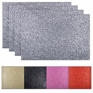 Set 4 Placemats Glitter Sparkle Kitchen Dining Dinner Table Mat Settings 45x30cm