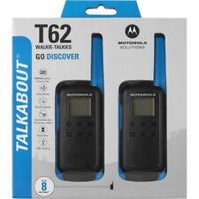 MOTOROLA Talkabout T62 Walkie Talkie, Two-way Consumer Radio, Blue