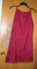 NEW Chelsea & Violet Red Laser Cut Fabric with Leather Look Trim Size Medium