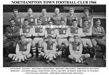 Northampton Town F.C. equipo de impresión 1966 (Walden/Hudson/líneas/Mackin)