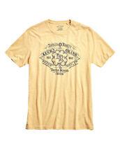 Lucky Brand Mens Yellow Tri-blend Logo Graphic Tee T-Shirt Sz Large L 3937-3