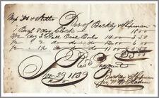 Philadelphia 1839 Clock Receipt - Beckley & Shipman - Berlin CT