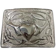 Men's Irish Claddagh Kilt Boucle De Ceinture Finition Chrome/Celtic Claddagh Belt Buckles