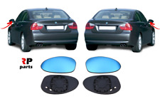 FOR BMW E92 06-10 PREFL, E90 E91 04-08 PREFL WING MIRROR GLASS HEATED BLUE PAIR