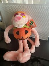 "1999 Pink Panther W/pumpkin body plush 17"" tall"