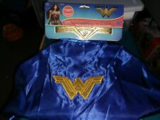 Wonder Woman Child Costume Accessory Set sz4-6-Head dress, Cape, Shield- New
