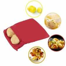 Potato Corns Bread Microwave Cooker Bag Washable Baked Cooking Roast New D~