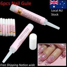 6x2g Nail Glue Mini Professional Beauty Nail False Art Decorate Tips Acrylic Gel
