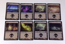 8 MTG Magic the Gathering SWAMP Cards, Basic Land (2007 - 2013)