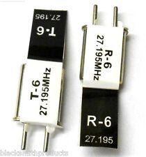RC R / C telecomando 27 MHz 27.195 AM Crystal TX & RX Nero