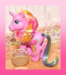 ❤️My Little Pony MLP G3 Super Long Hair Rarity Pink Unicorn 3D Symbol 2007❤️