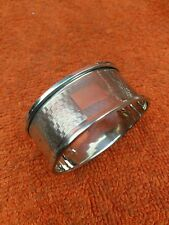 More details for antique sterling silver hallmarked napkin ring 1930 ,f h adams & co