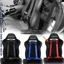 """Adjusters Jdm 4-Point 2"""" Strap Drift Racing Safety Seat Belt Buckle Harness Red"""