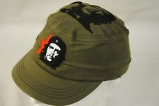 CHE GUEVARA EMBROIDERED CLASSIC FACE RED STAR CADET CAP NEW OFFICIAL RARE