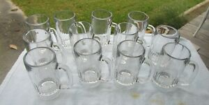 Lot of 12 Libbey Beer Mug Glass 12 oz Root Beer Restaurant ware 5309 Libby Heavy