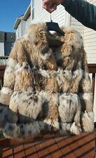 Luxurious Canadian lynx fur coat size M