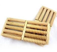 Wooden Roller 5 Raw Foot Massager Health Therapy Stress Relief Relax Massage New