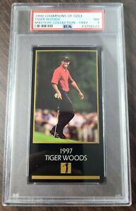 1998 Champions of Golf Tiger Woods Masters Collection PSA 7 Rookie