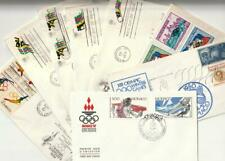 OLYMPIC COVERS Collection  8 FDC 1960's-1980's US, Monaco, Haiti VF