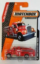 Matchbox 2014 # 100  1963 Mack B Fire Truck   red  MBX Heroic Rescue