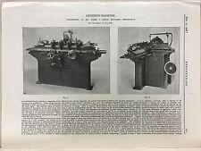 Grinding Machine Constructed In Birmingham: 1908 Engineering Magazine Print