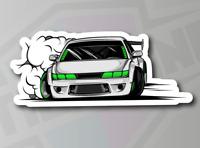 Drifting Race Car - JDM Drift Vinyl Sticker Decal 150mm