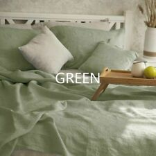 Pure Linen Flax Bed Sheet Cover Bedsheet French Organic Natural Bedding Decorate