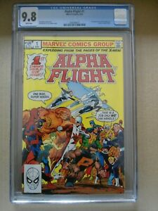 ALPHA FLIGHT #1 CGC 9.8 - WHITE PAGES - FREE SHIPPING 1ST PUCK & MARRINA BYRNE
