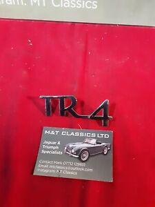 Triumph Tr4 boot badge original