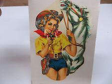 """italiana periodo 50s / anni '60 """" Sexy Cowgirl """" LAMBRETTA + VESPA Waterslide"""