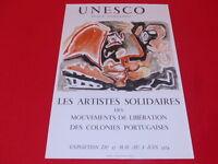 [Coll. R-JEAN MOULIN ART XXe] E. PIGNON / AFFICHE UNESCO PORTUGAL EO 1974 LITHO