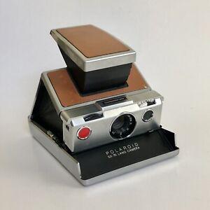 Polaroid SX-70 Land Camera - Brown & Silver - Read Description