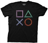 Playstation Sony Playstation Vintage Icons Gamer Licensed Adult T Shirt