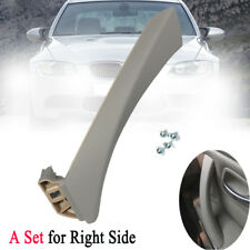 For BMW E90 Right Gray Inner Front Door Panel Inner Handle Pull Trim+Outer Cover