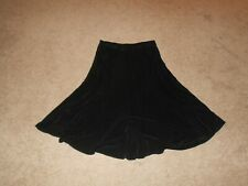 Women's Chico's Travelers Slinky Maxi Flair Skirt Black Size 2 / Reg. Large 12