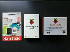 Raspberry Pi 3 Model B 1GB RAM 8GB SD-Card Class 10 Bundle original Netzteil