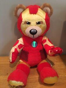 Build A Bear Marvel Avengers IRON MAN Plush Teddy Bear Light Hand Works D1