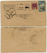 Ceylon WW2 censurata Boxed CROWN 1942 Kg5 + Kg6 combinazione + MACCHINA PMK in India