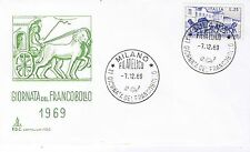 FDC CAPITOLIUM XI GIORNATA DEL FRANCOBOLLO 1969